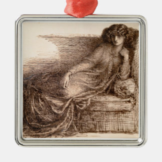 Mrs. Jane Morris Reclining on a Sofa Christmas Ornament