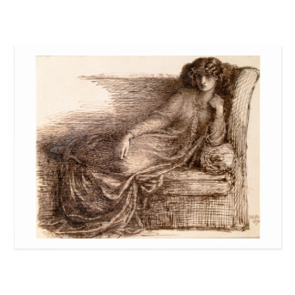Mrs. Jane Morris Reclining on a Sofa Postcard