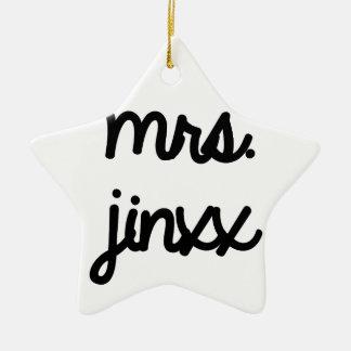 Mrs. Jinxx Ceramic Star Decoration