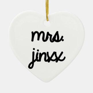 Mrs. Jinxx Christmas Ornament