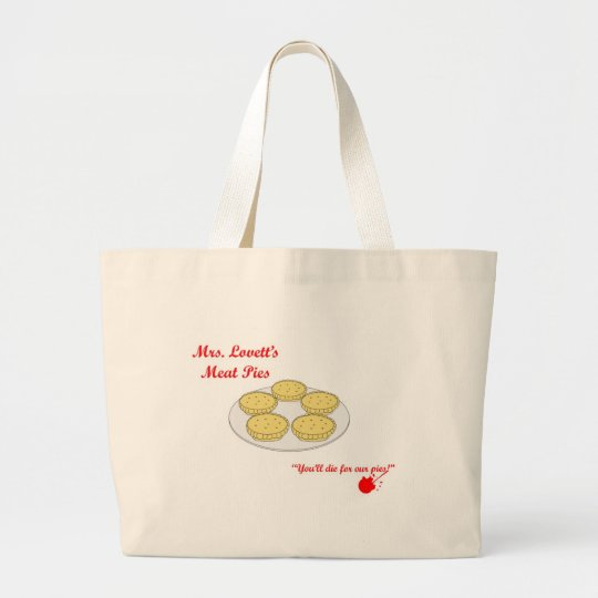 Mrs Lovetts Pie Shop Large Tote Bag