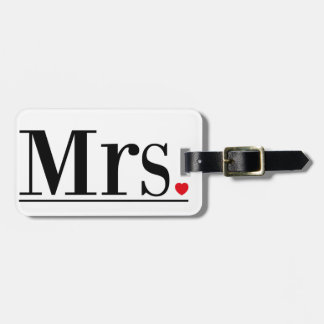 Mrs Luggage Tag