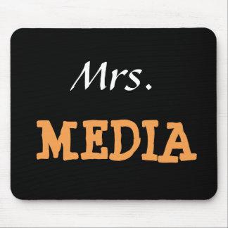 Mrs Media Female Journalist Editor Funny Nickname Mouse Mat