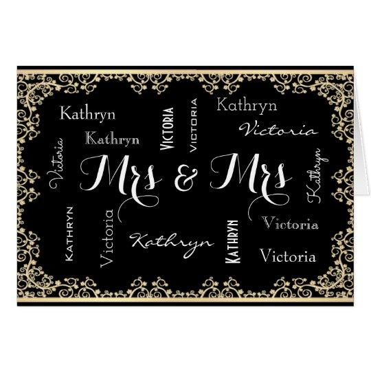 Mrs & Mrs Customised & Elegant Wedding Card