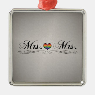 Mrs. & Mrs. Lesbian Design Christmas Ornament