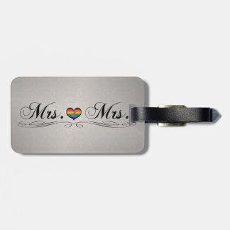 Mrs. & Mrs. Lesbian Design Luggage Tag