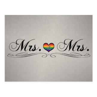 Mrs. & Mrs. Lesbian Pride Postcard