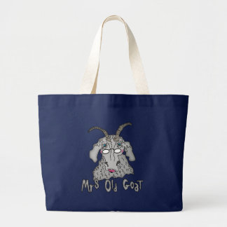 Mrs Old Goat Funny Cartoon Jumbo Tote Bag