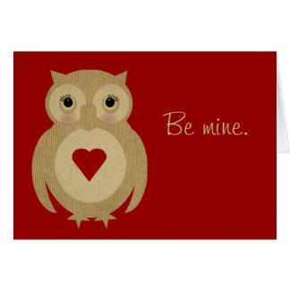 Mrs Ollie Valentine Card