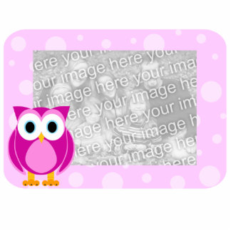 Mrs. Owl Cut-Out Pink Photo Sculpture Frame