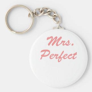 Mrs. Perfect Basic Round Button Key Ring
