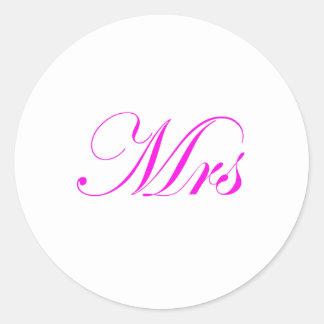 Mrs-Pink Round Sticker