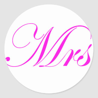 Mrs-Pink Sticker