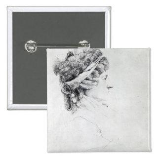 Mrs Piozzi 15 Cm Square Badge
