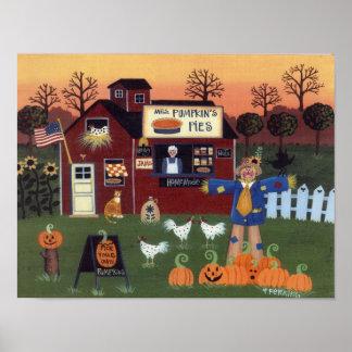 Mrs. Pumpkin's Pies Poster