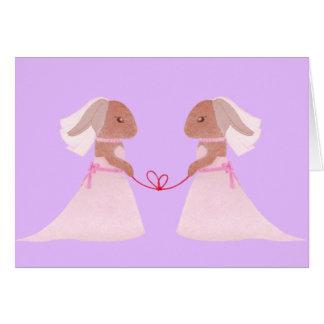 Mrs. Rabbits Wedding Greeting Card