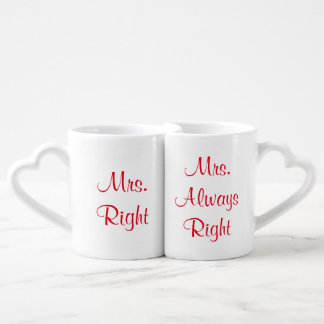 Mrs. Right and Mrs. Always Right Mug Set