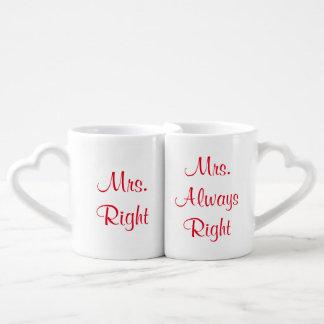 Mrs. Right and Mrs. Always Right Mug Set