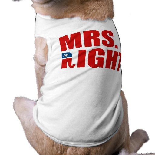 MRS. RIGHT DOGGIE TEE SHIRT