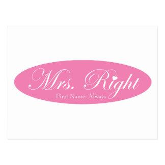 Mrs Right Postcard
