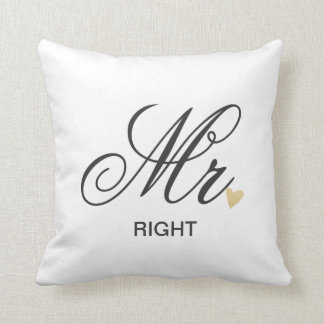 Mrs. RIGHT Throw Pillow