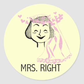 Mrs. Right Tshirts and Gifts Stickers