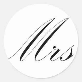 Mrs Round Stickers