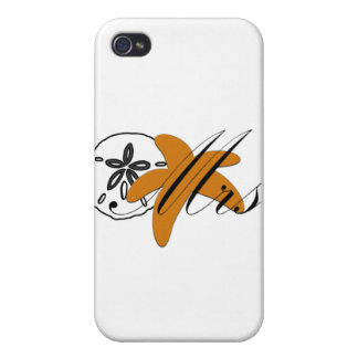 Mrs Sand Dollar Starfish Case For iPhone 4
