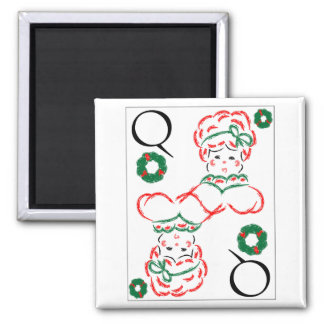 Mrs Santa - Queen of Wreaths Refrigerator Magnets