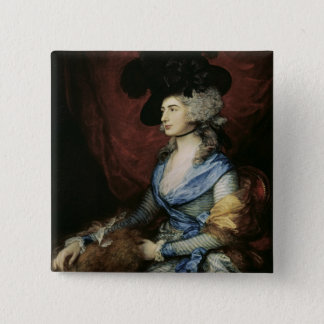 Mrs Sarah Siddons, the actress , 1785 15 Cm Square Badge