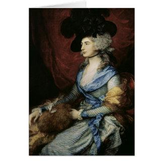 Mrs Sarah Siddons, the actress , 1785 Card