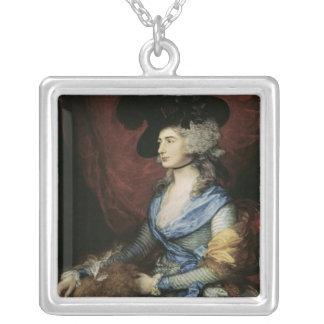 Mrs Sarah Siddons, the actress , 1785 Square Pendant Necklace