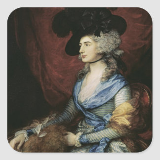 Mrs Sarah Siddons, the actress , 1785 Square Sticker