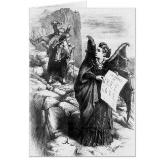 Mrs Satan Suffragette Card