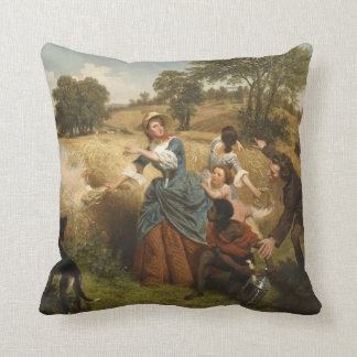Mrs. Schuyler Burning Her Fields - Leutze (1852) Cushion