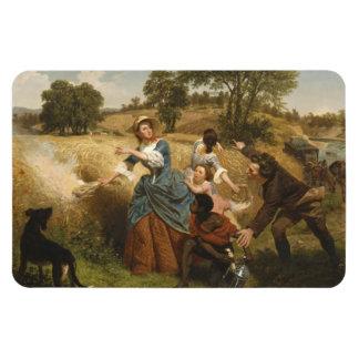 Mrs. Schuyler Burning Her Fields - Leutze (1852) Rectangular Photo Magnet