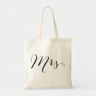 Mrs Script Married Bridal Party Wedding Tote Bag