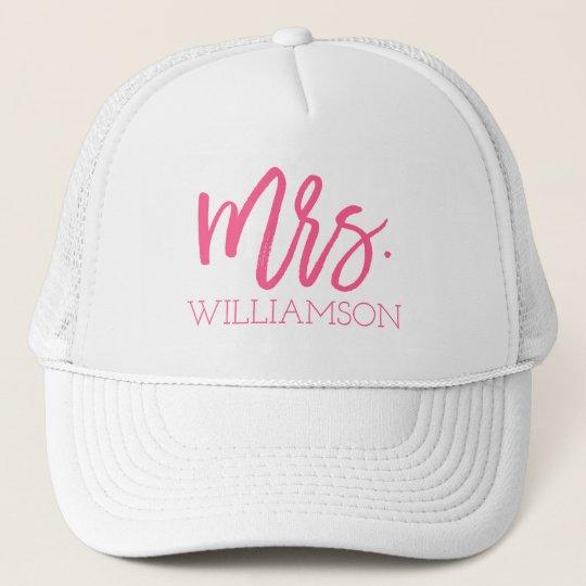 Mrs. Script Personalised Trucker Hat
