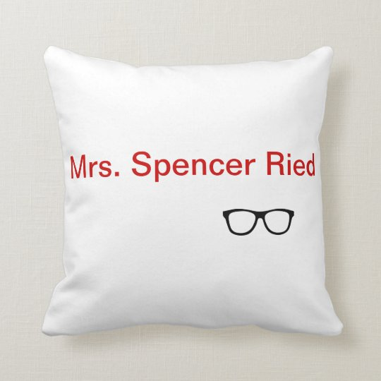 'Mrs. Spencer Reid' throw pillow