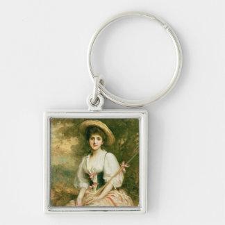 Mrs. Stuart M. Samuel as Phyllida Silver-Colored Square Key Ring