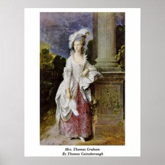 Mrs. Thomas Graham By Thomas Gainsborough Print