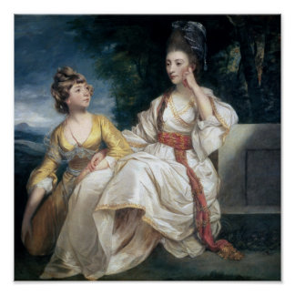 Mrs Thrale and her Daughter Hester  1777-78 Poster