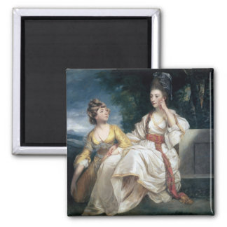 Mrs Thrale and her Daughter Hester  1777-78 Square Magnet