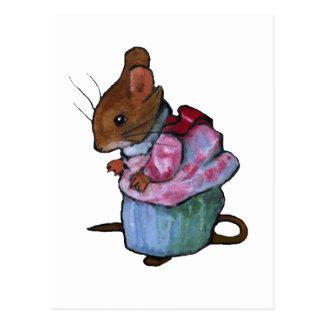 Mrs. Tittlemouse, After Beatrix Potter: Oil Pastel Postcard