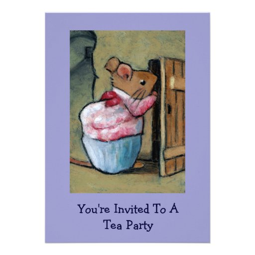 Mrs. Tittlemouse (Beatrix Potter) Tea Party Invite