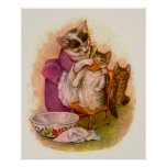 Mrs. Twitchit and Moppet Poster Print