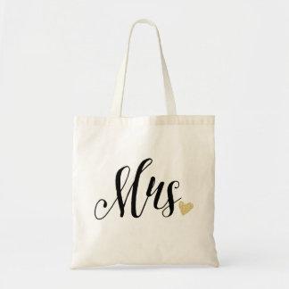 """Mrs."" Wedding Budget Tote Bag"