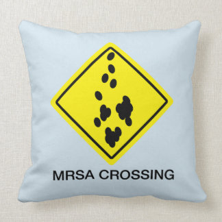 MRSA Crossing Sign Cushion
