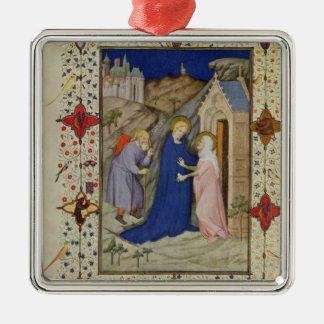 MS 11060-11061 Hours of Notre Dame: Laudes, The Vi Christmas Ornament