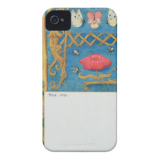Ms 134 Illuminated letter `A' and side border of f iPhone 4 Cases